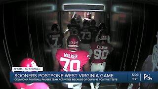 Sooners postpone West Virginia game