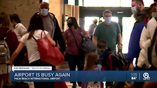 Air travel increasing across country, including PBIA