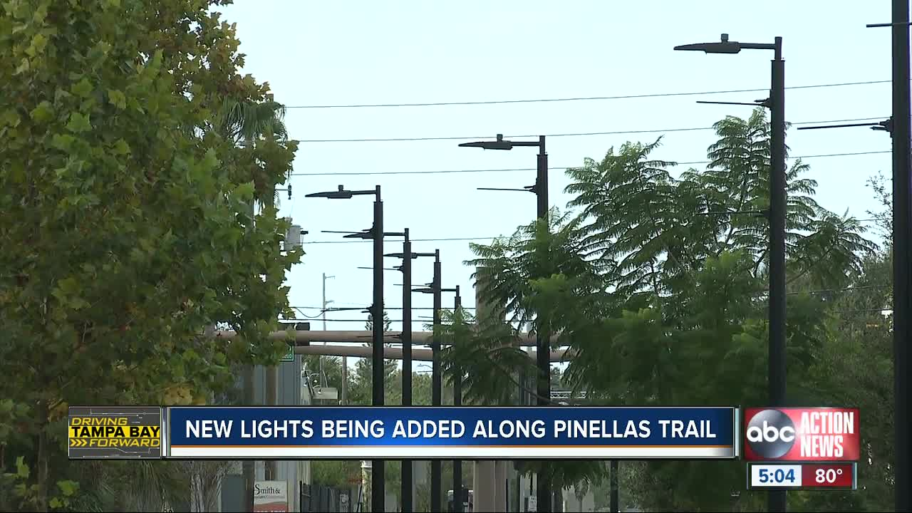 New lights being added along Pinellas trail