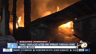 Family escapes Lemon Grove house fire