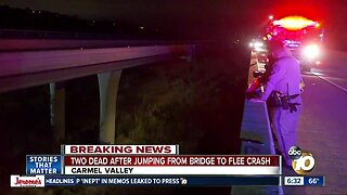 CHP: At least 2 dead after jump from San Diego bridge to flee car crash