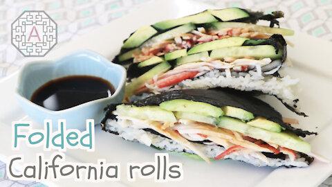 Folded Spicy California Rolls (접는 캘리포니아 롤) | Aeri's Kitchen