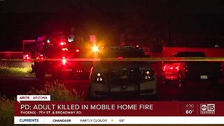 7th St Mobile Home Fire