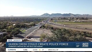 Queen Creek could create police force