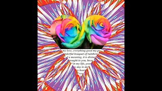 Good morning my love, brought a bouquet of rainbow roses, love you! [Message] [Quotes and Poems]