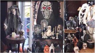 Denne familien tar den helt ut med dekorasjoner til halloween