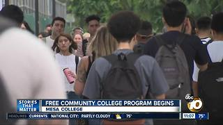Students welcome free community college tuition