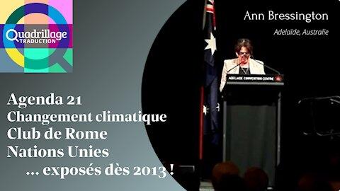 L'agenda 21 exposé dès 2013! Ann Bressington ( Australie)