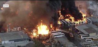 Fire in Compton, California | Breaking news