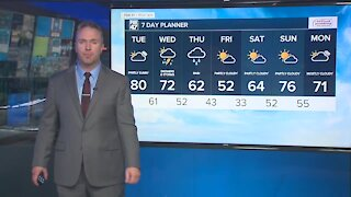 Partly to mostly cloudy and mild