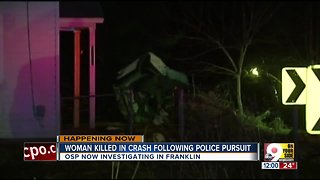 Woman killed in crash after police pursuit