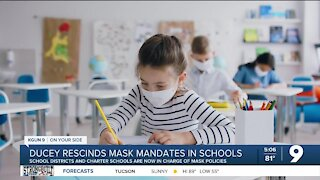 Ducey rescinds order requiring masks in schools
