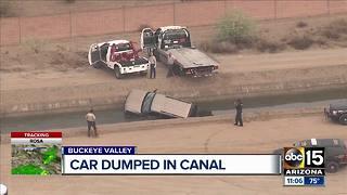 Stolen vehicle found in Buckeye Valley canal