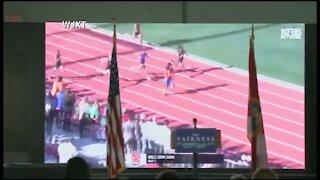 Florida Gov. Ron DeSantis shows clip of transgender athlete