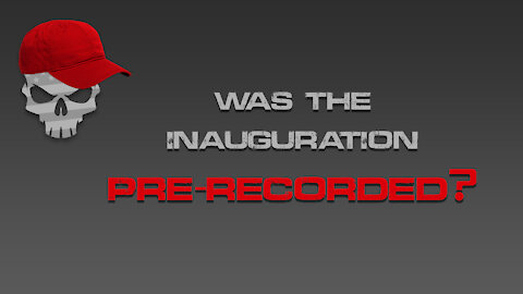 Was the Inauguration Really Pre-Recorded?