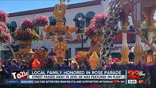 Local family in Rose Parade