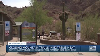 Some Valley hiking trails to close during extreme heat