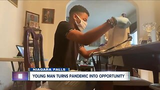 Young man turns pandemic into opportunity