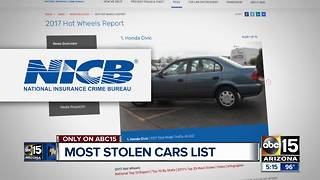 These are the top 10 vehicles stolen in Arizona