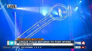 Cirque Italia returns to Southwest Florida - 7am live report