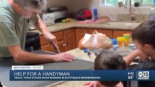 Valley family helping handyman who had truck and trailer stolen