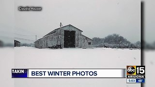 Rare winter weather hits Valley area