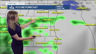 A few showers continue into Friday
