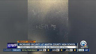Increased security Friday at Martin County High School