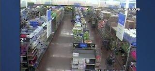 Firefighters share surveillance footage of Las Vegas Walmart arson