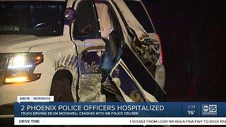 Officers hospitalized after Phoenix crash