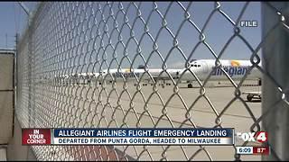 Allegiant Airlines flight from Punta Gorda makes emergency landing in Orlando