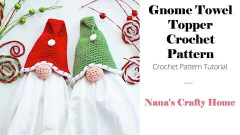 Gnome Crochet Towel Topper Tutorial