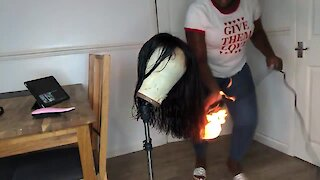 Woman's hairdryer catches on fire and explodes