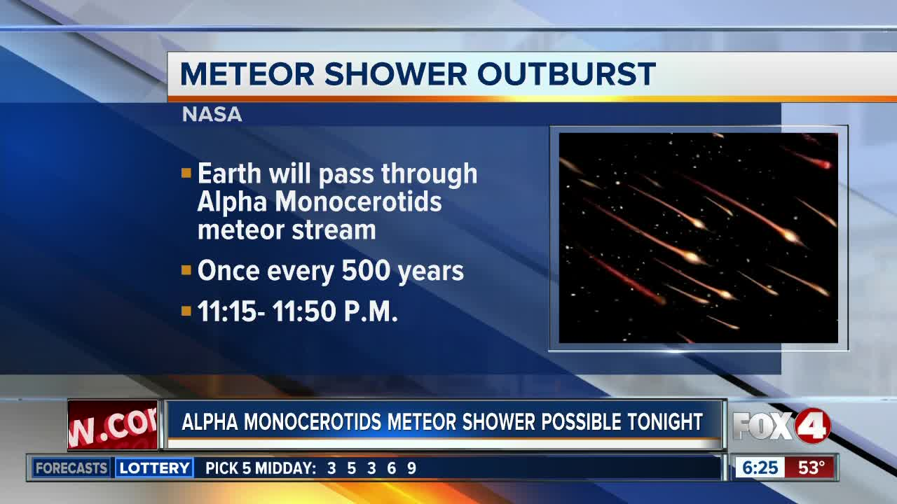 Possible meteor storm on Thursday night