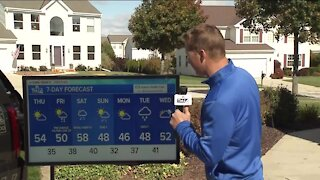 Cooler, breezy Thursday with highs in low 50s