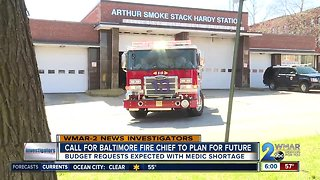 Call for Baltimore fire chief to plan for future