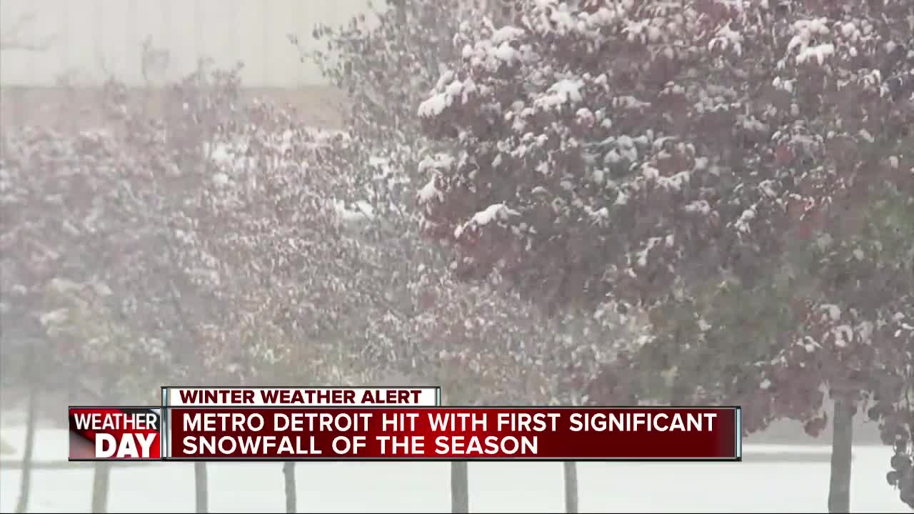 First measurable snowfall hits metro Detroit this season