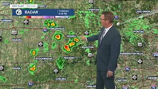 Some showers and storms tonight