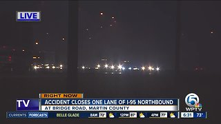 Crash causes delays on I-95 NB in Martin County
