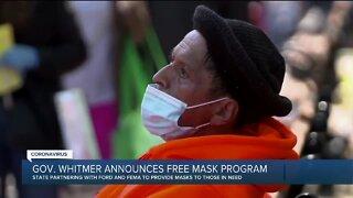 Gov. Whitmer announces free mask program