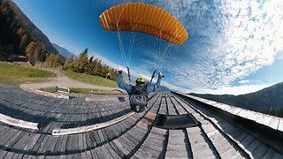 Footage Of Proximity Speed Flying In Kronplatz, Italy