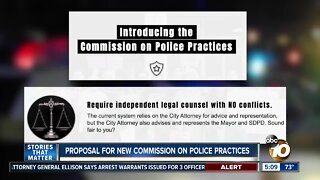 Proposal for new commission on police practices in San Diego