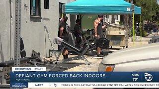 Defiant gym forced back indoors