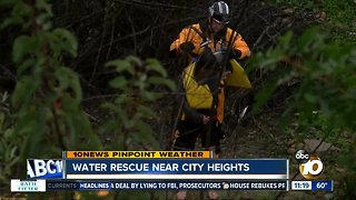 Woman rescued from flood water