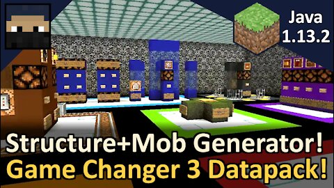 Game Changer 3 Biome Specific Structure Generator Datapack! For Minecraft Java 1.13, 1.14, and 1.15