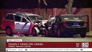 Deadly head-on crash near 43rd Avenue and Cactus Road