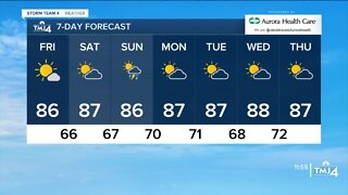 Warmer weather continues in coming days.