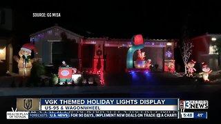 Christmas display with VGK music
