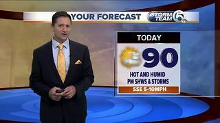 Early Thursday morning forecast