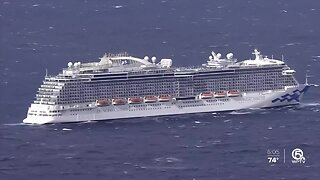 Cruise ship kept from docking in South Florida as employees tested for coronavirus